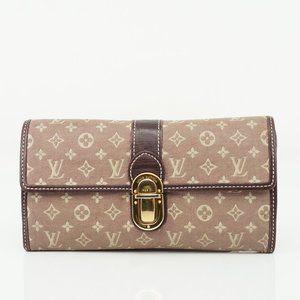 Auth Louis Vuitton Portefeuille Sarah #N4010V73